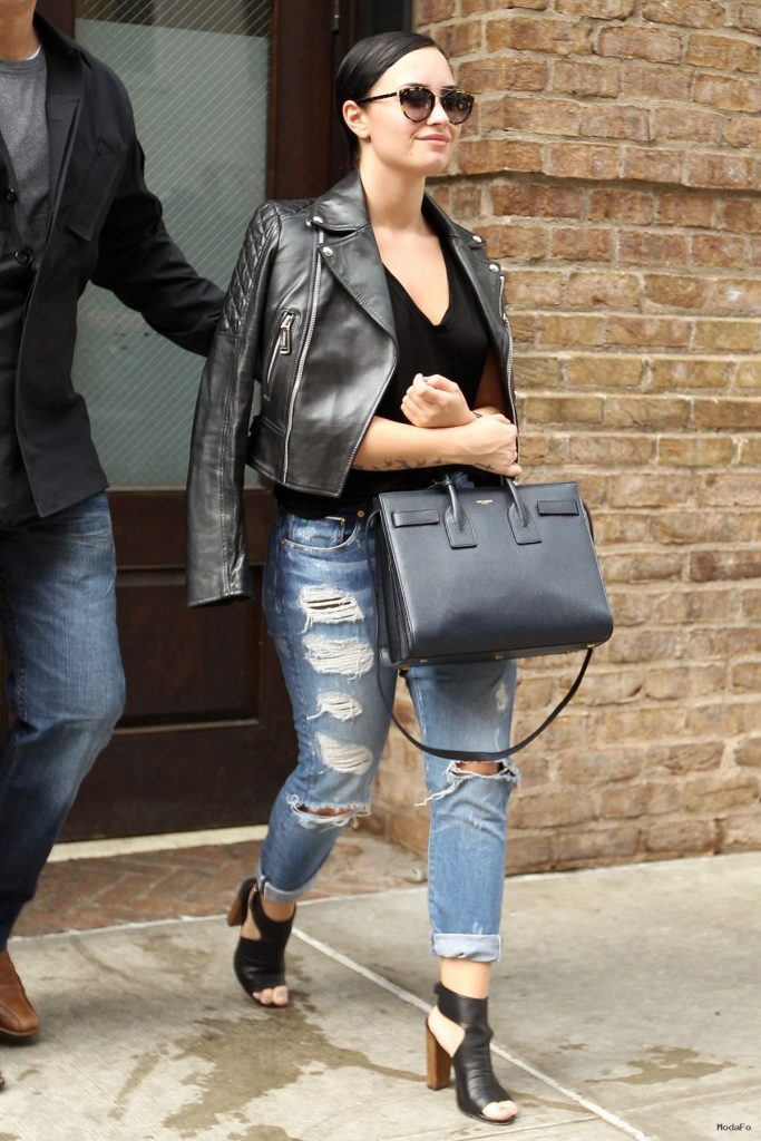DEMI LOVATO in Ripped Jeans Out in New York 05/27/2015 …