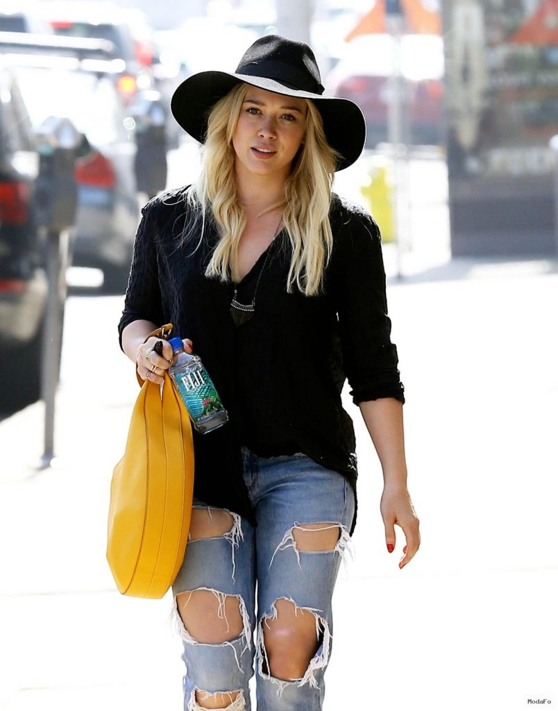 Hilary Duff in Ripped Jeans – Out In West Hollywood, February 2015