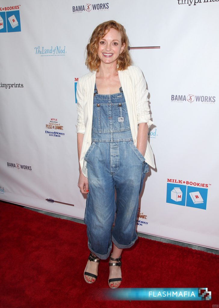 Jayma Mays Rocks Denim Overalls at Children's Reading Event in Los …
