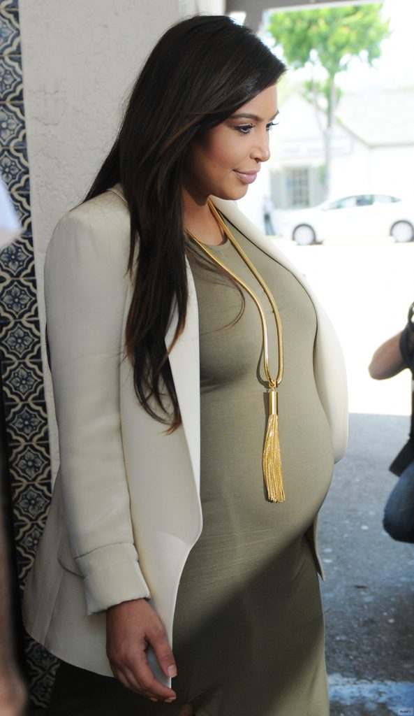 Kim Kardashian caught up in maternity style drama