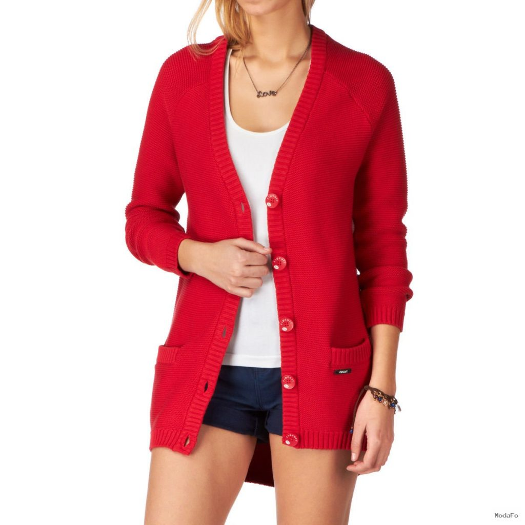 Rip Curl Jennifer Cardigan – Rococco Red | Free UK Delivery