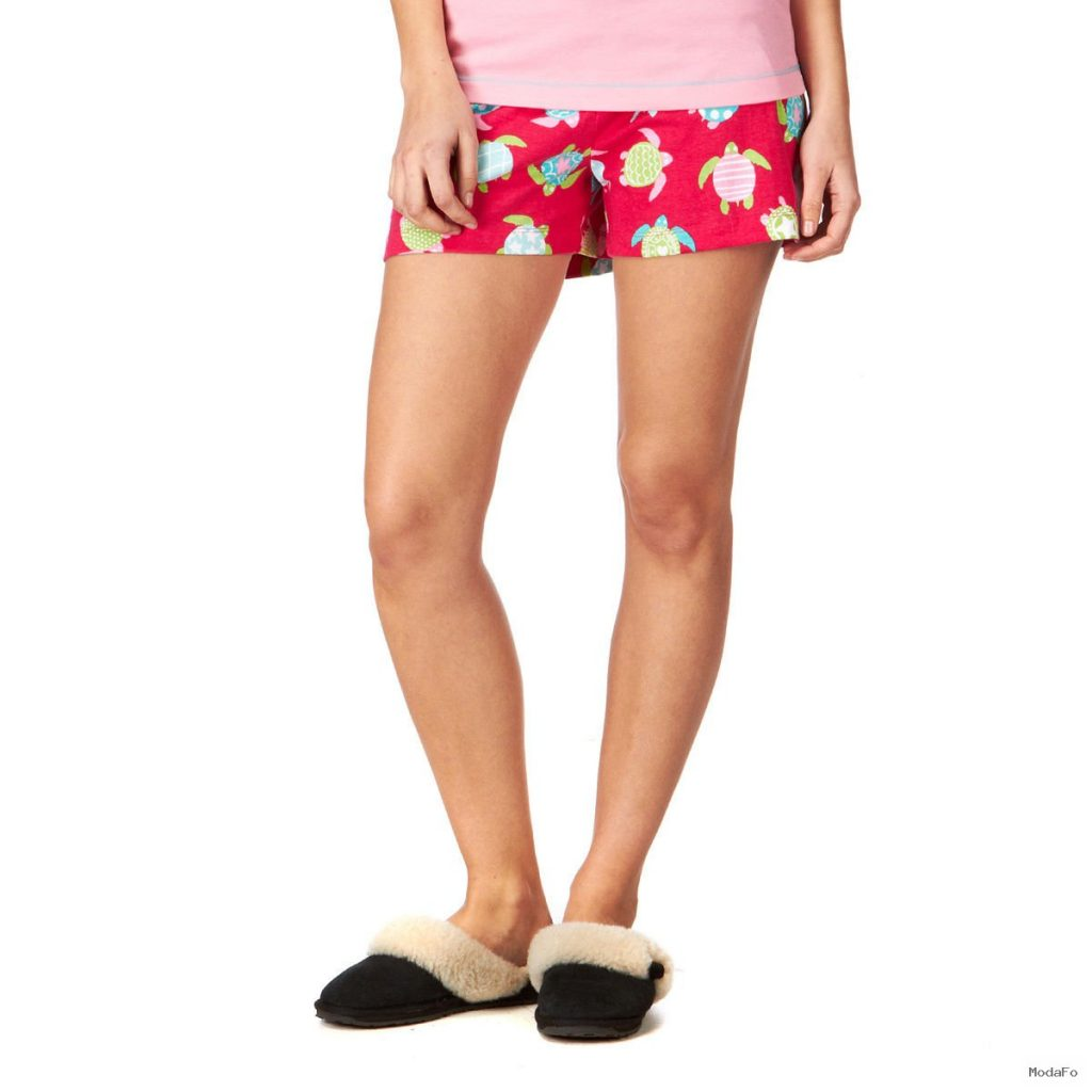 Hatley Sea Turtles Pyjama Shorts – Hot Pink | Free UK Delivery