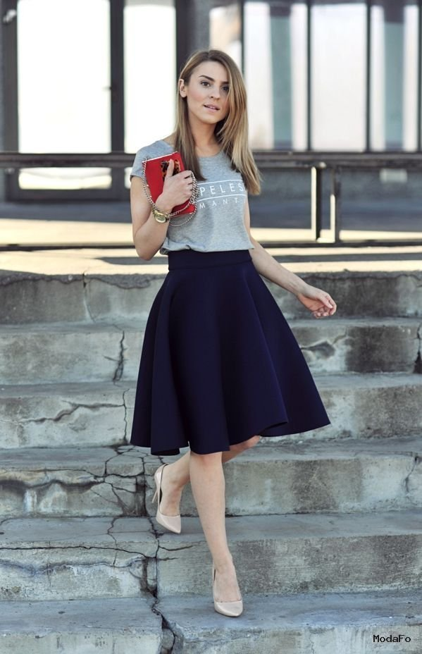 Trendy plus size skirts pictures