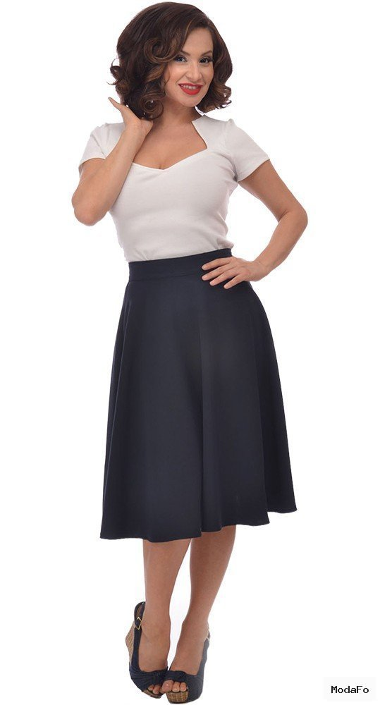 Steady Clothing High Waisted Thrills Skirt in Navy | Blame Betty