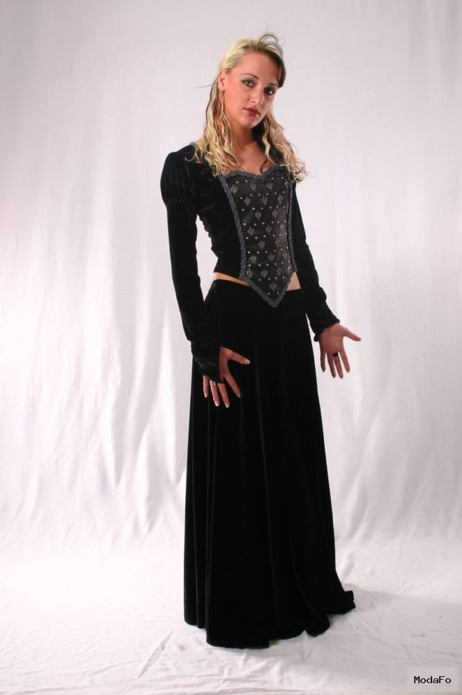 Gothic Long Velvet Skirt. Gothic Velvet Full Length Skirt 5 …