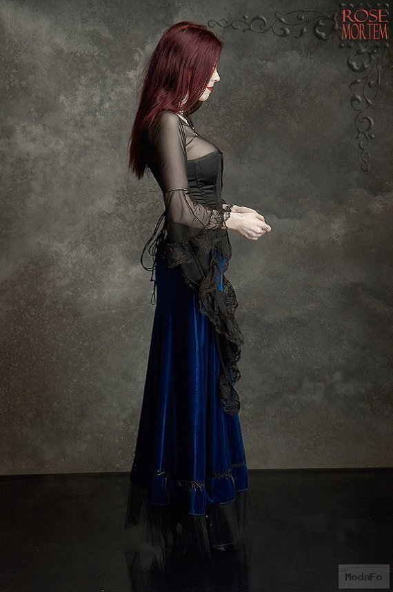 Grenadier Romantic Long Velvet Skirt Fairy Tale by rosemortem
