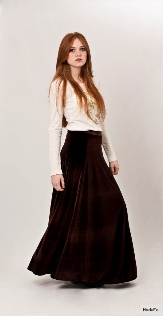 Velvet maxi skirt $78.00 #velvet #maxi #skirt #brown #flowing …