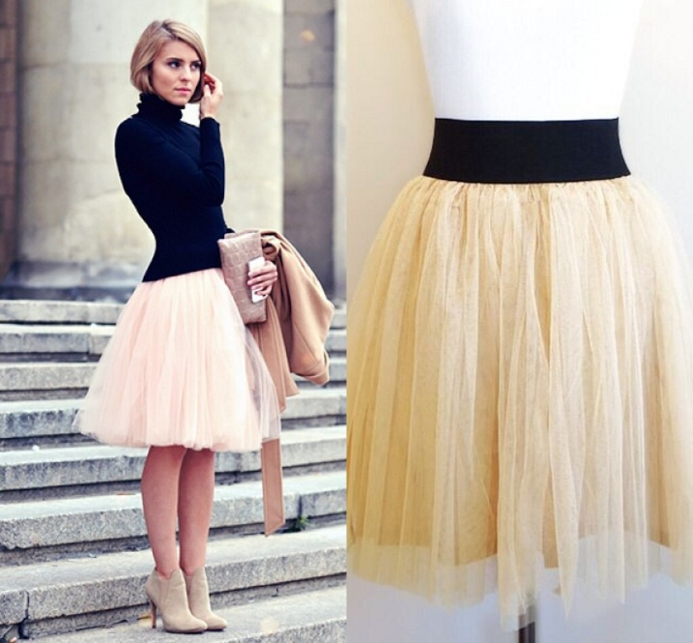 Best-Selling-Short-font-b-Tulle-b-font-font-b-Skirt-b-font-5-layers-With