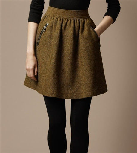 Yüksek Bel Etek modelleri 2- high waisted skirts trends 2015-2016