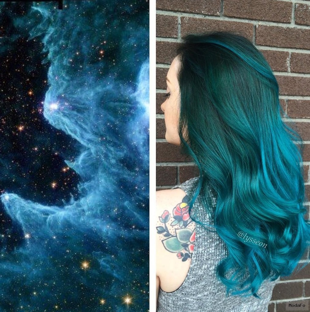 Customizando a Beleza por Bia Vilela: Trend: Galaxy Hair