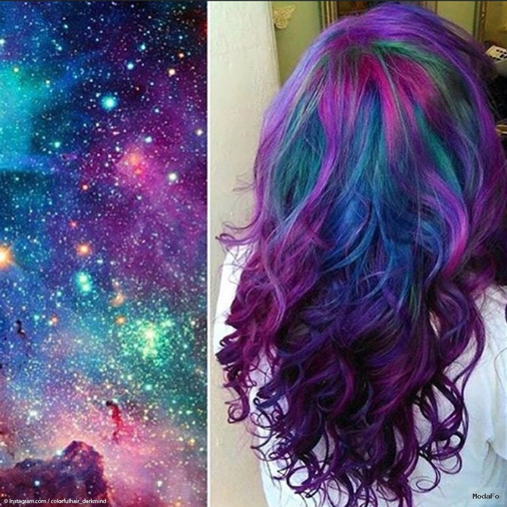 Galaxy Hair : la coloration cheveux multicolore inspirée de l …