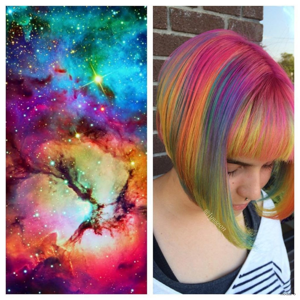 Galaxy Hair Trend Is Taking Over Salons