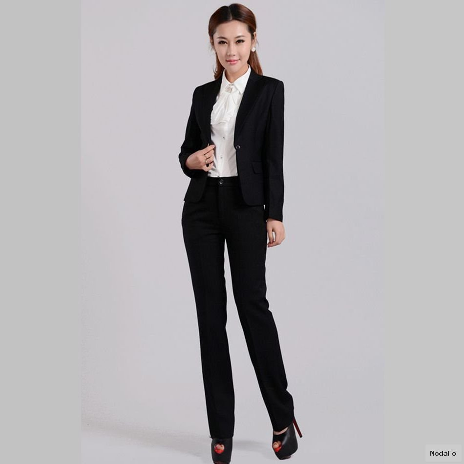 Female business suits Korean Slim gun neck wear a suit to work b