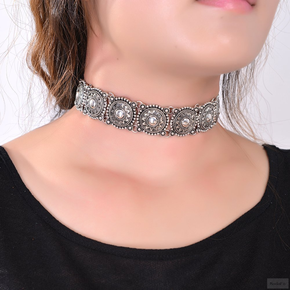 2016 Hot Boho Collar Choker Silver Necklace statement jewelry for …