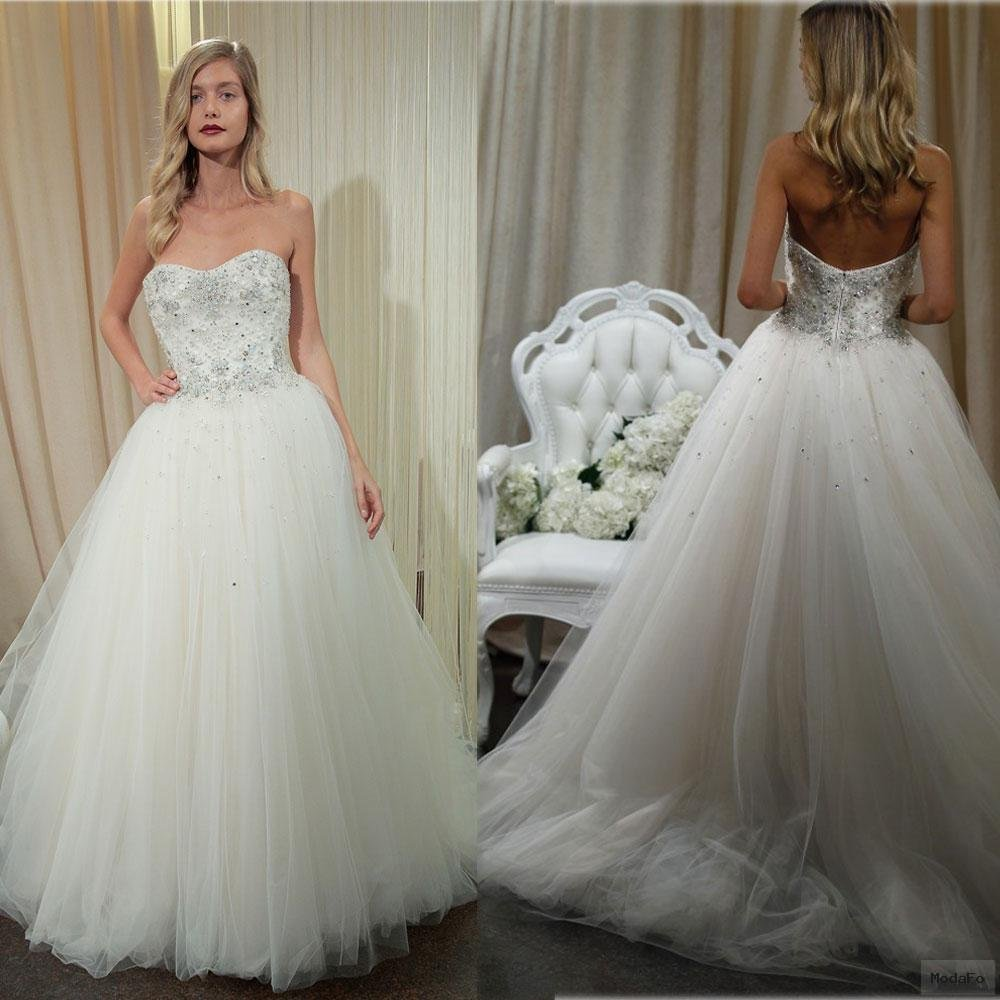 2016 Princess Ball Gown Wedding Dresses with Beaded Sweetheart …