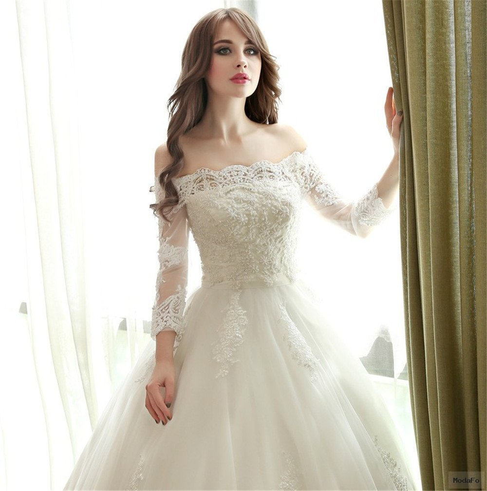 Aliexpress.com : Buy 2016 Lace Beaded Ball Gown Wedding Dresses …