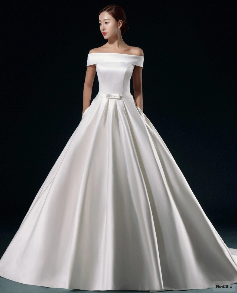 Popular Satin Bridal Gowns with Bow and Pockets-Buy Cheap Satin …