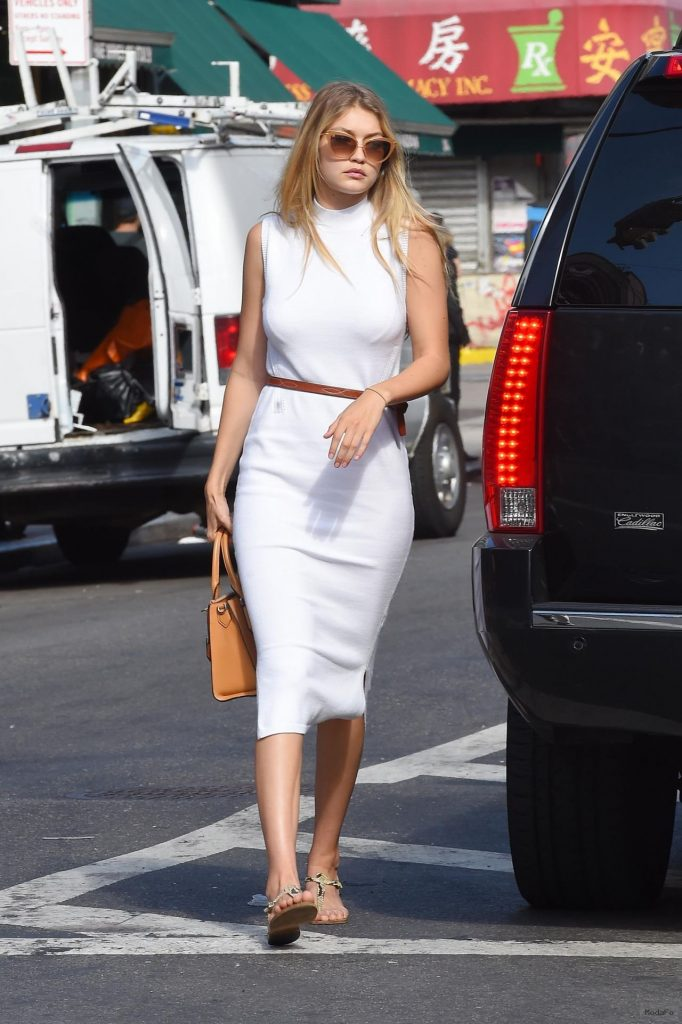 Gigi Hadid Street Fashion – Out in New York City, July 2015