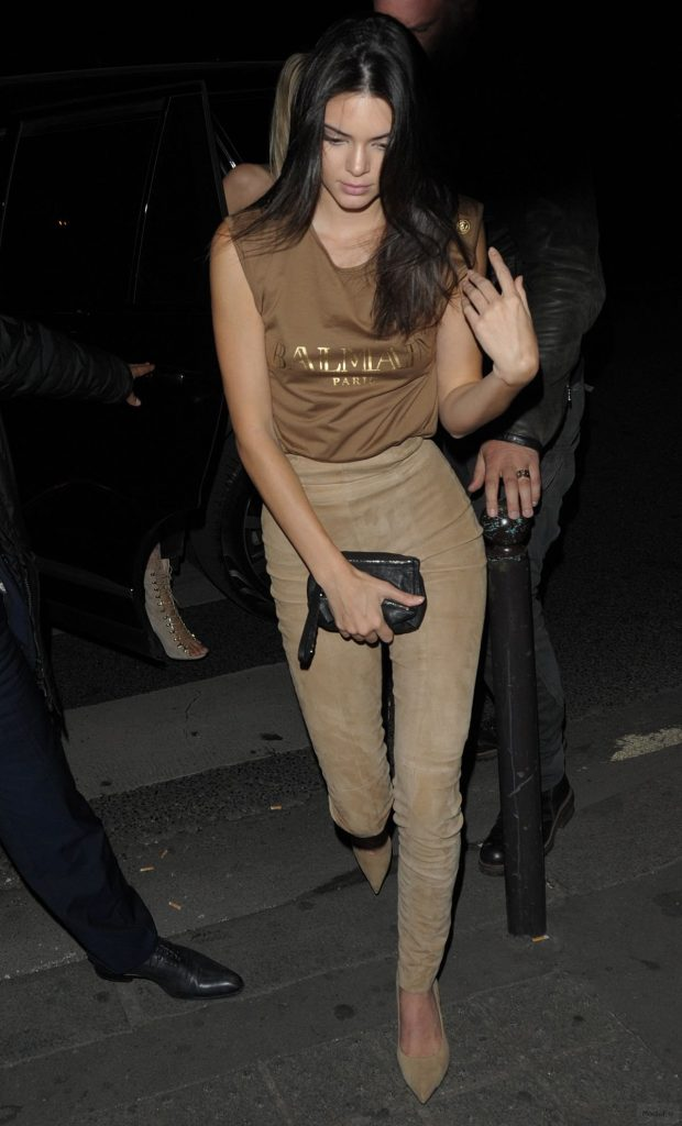 KENDALL JENNER at Balmain Fashion Show After-party in Paris 10/01 ...