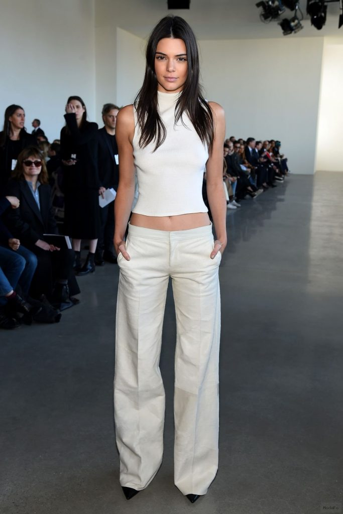 KENDALL JENNER at Calvin Klein Fall 2016 Fashion Show at New York ...