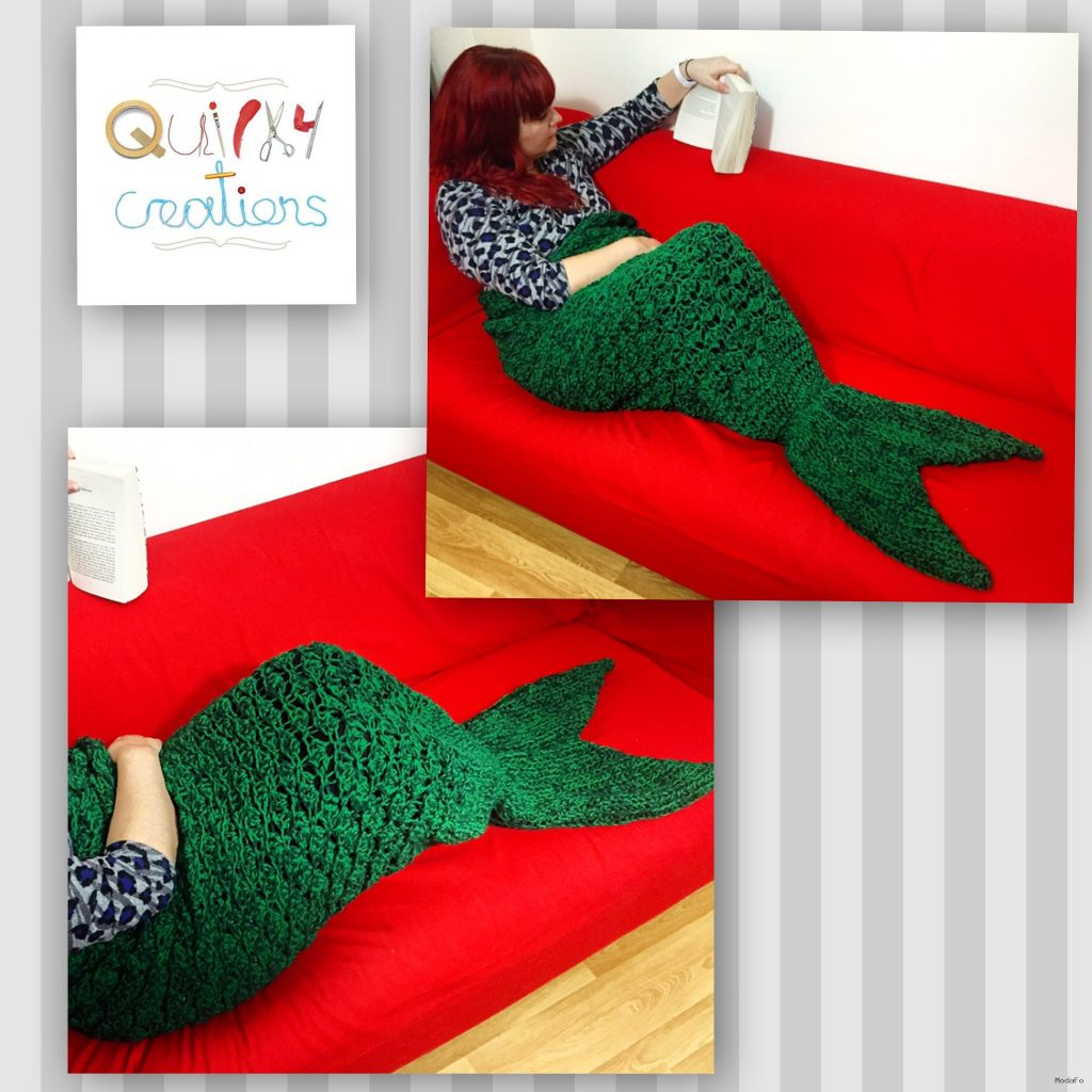 Adult mermaid tail blanket | Conscious Crafties