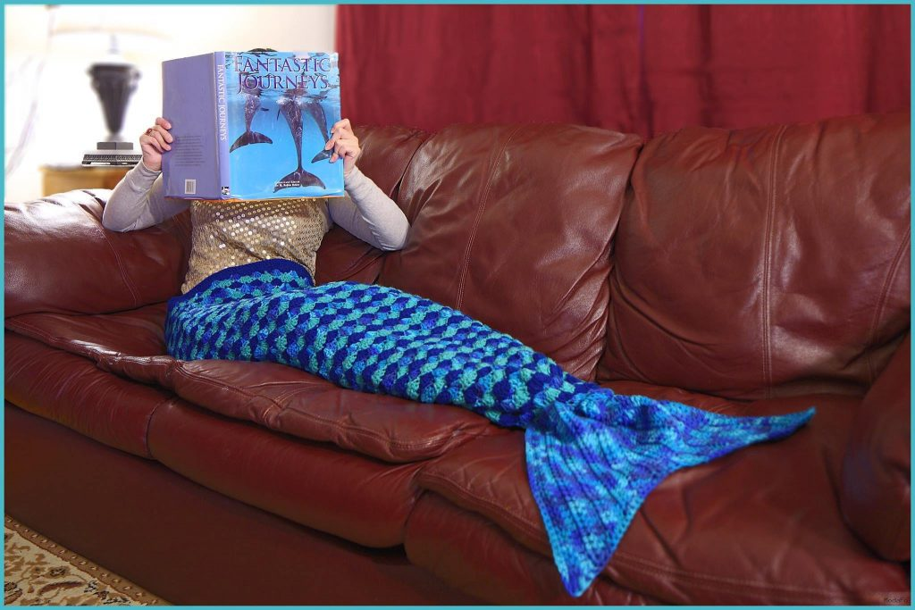 Crochet Tutorial: Mermaid Tail Afghan Pattern—3 Sizes (Small …