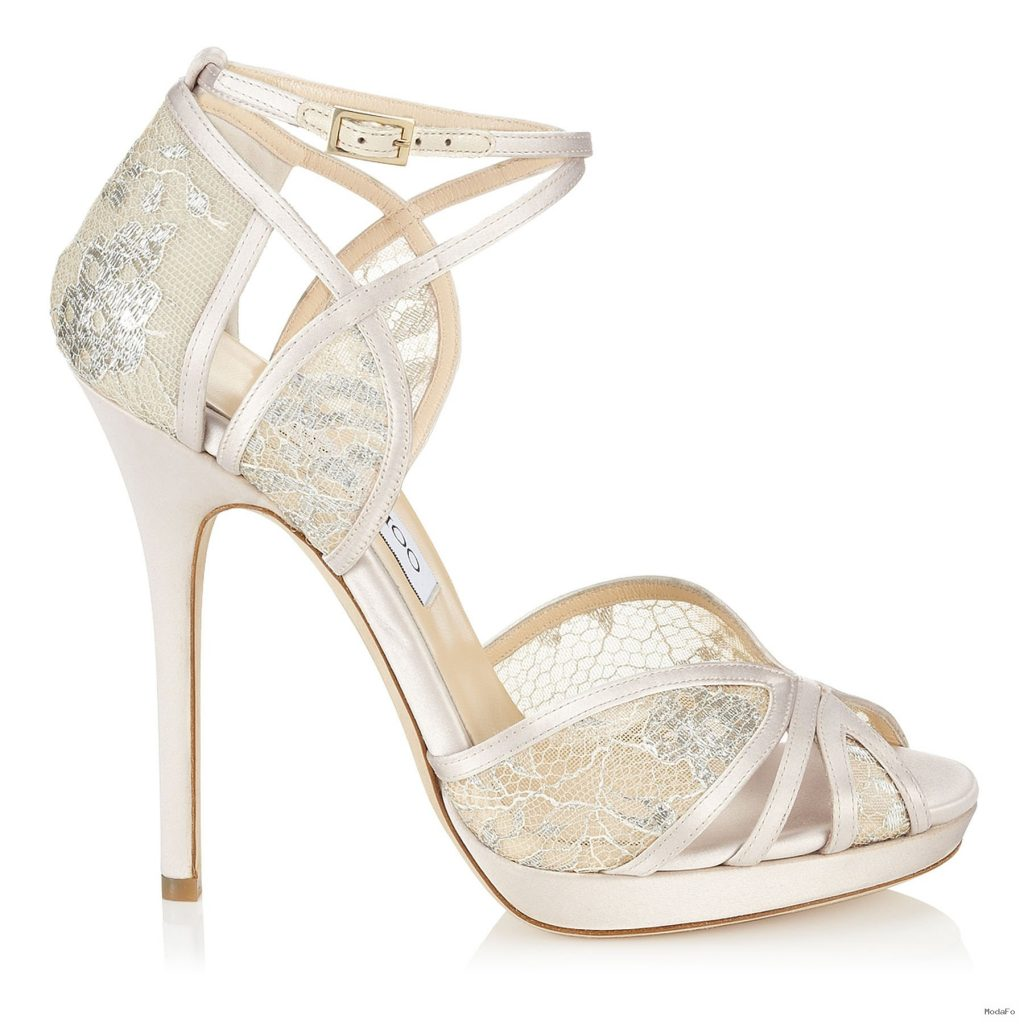 Fayme Ivory and White Satin Sandals | Fayme | Bridal | JIMMY CHOO