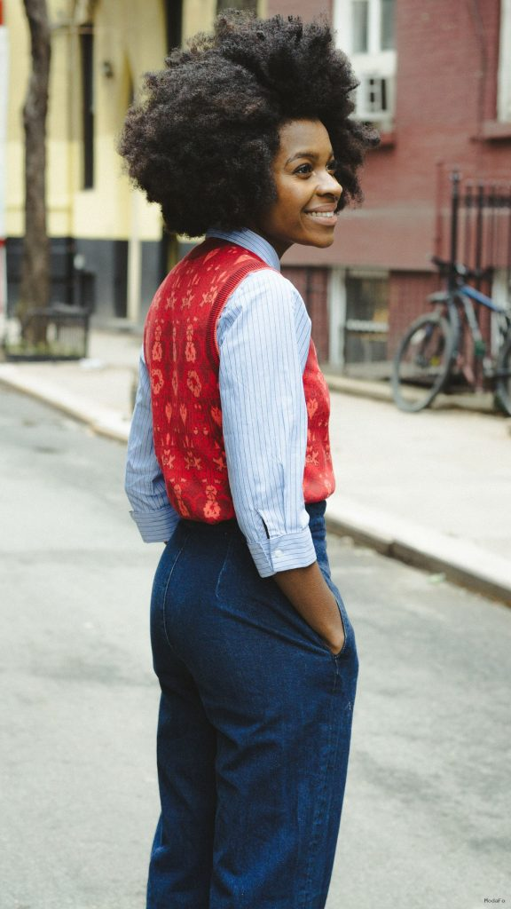 Freddie Harrel – 70s inspired outfit – wide leg jeans – NYC Street …