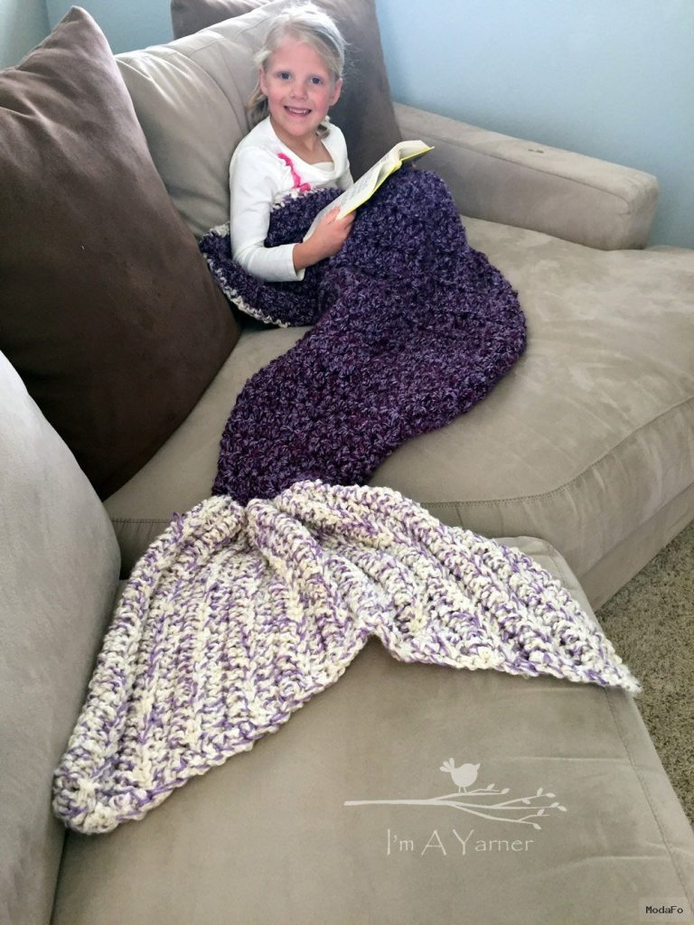 Mermaid Tail Blanket Mermaid Blanket Tail Blanket by ImAYarner