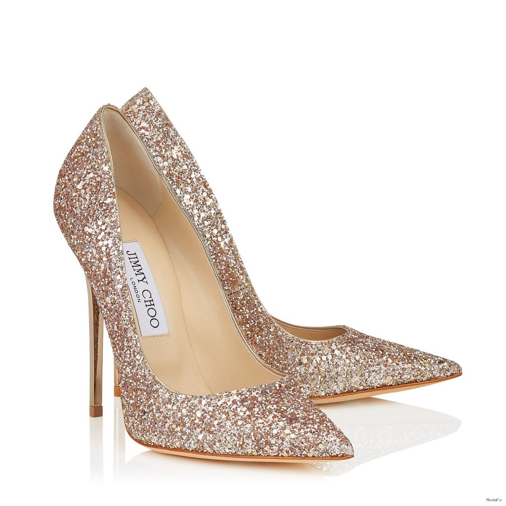 Nude Shadow Coarse Glitter Fabric Pointy Toe Pumps | Anouk …