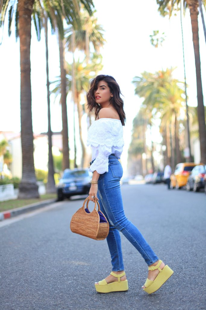 Off-Shoulder and Denim | Cali Girl Style – Sazan