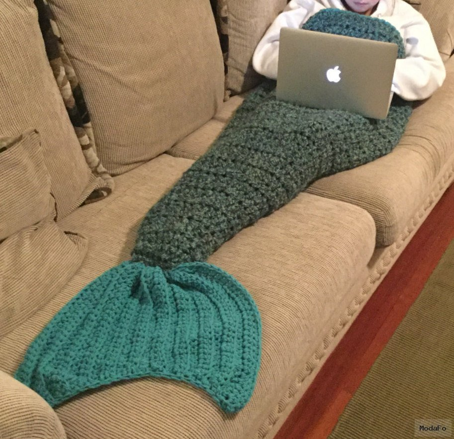Popular items for mermaid tail blanket on Etsy