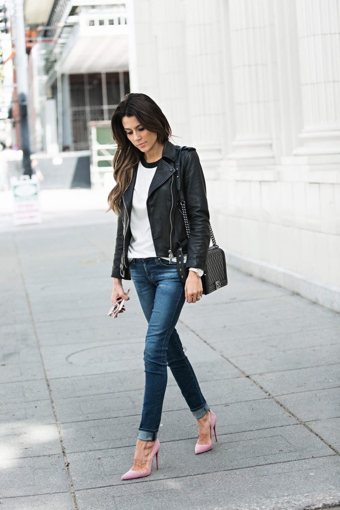 Rev Up Your Wardrobe With These Leather Jacket Outfits – Just The …