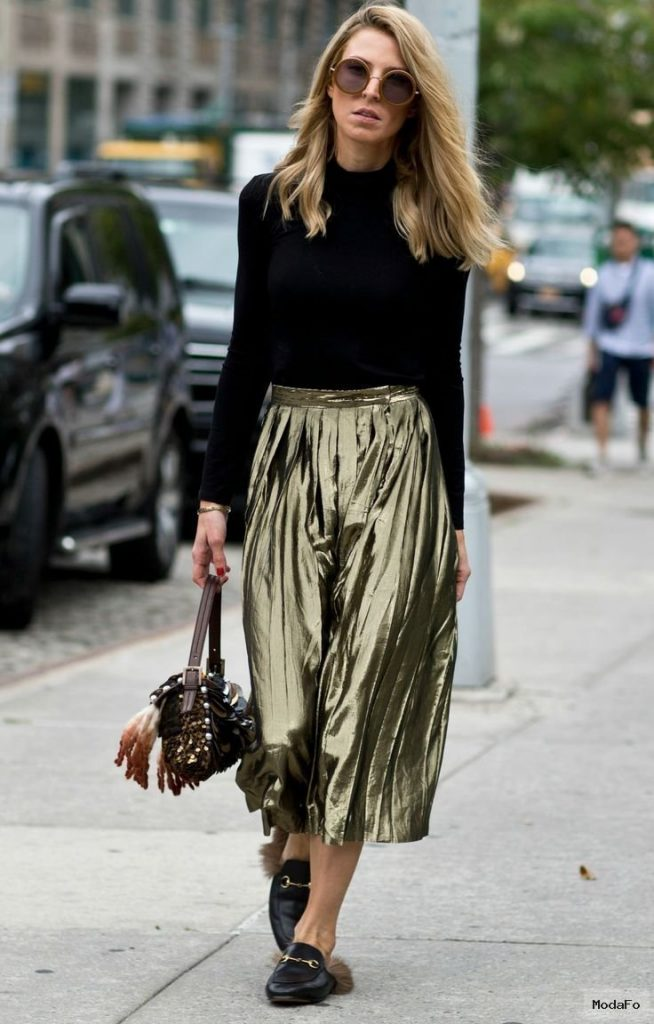 1000+ ideas about Metallic Skirt on Pinterest | Black Leather …