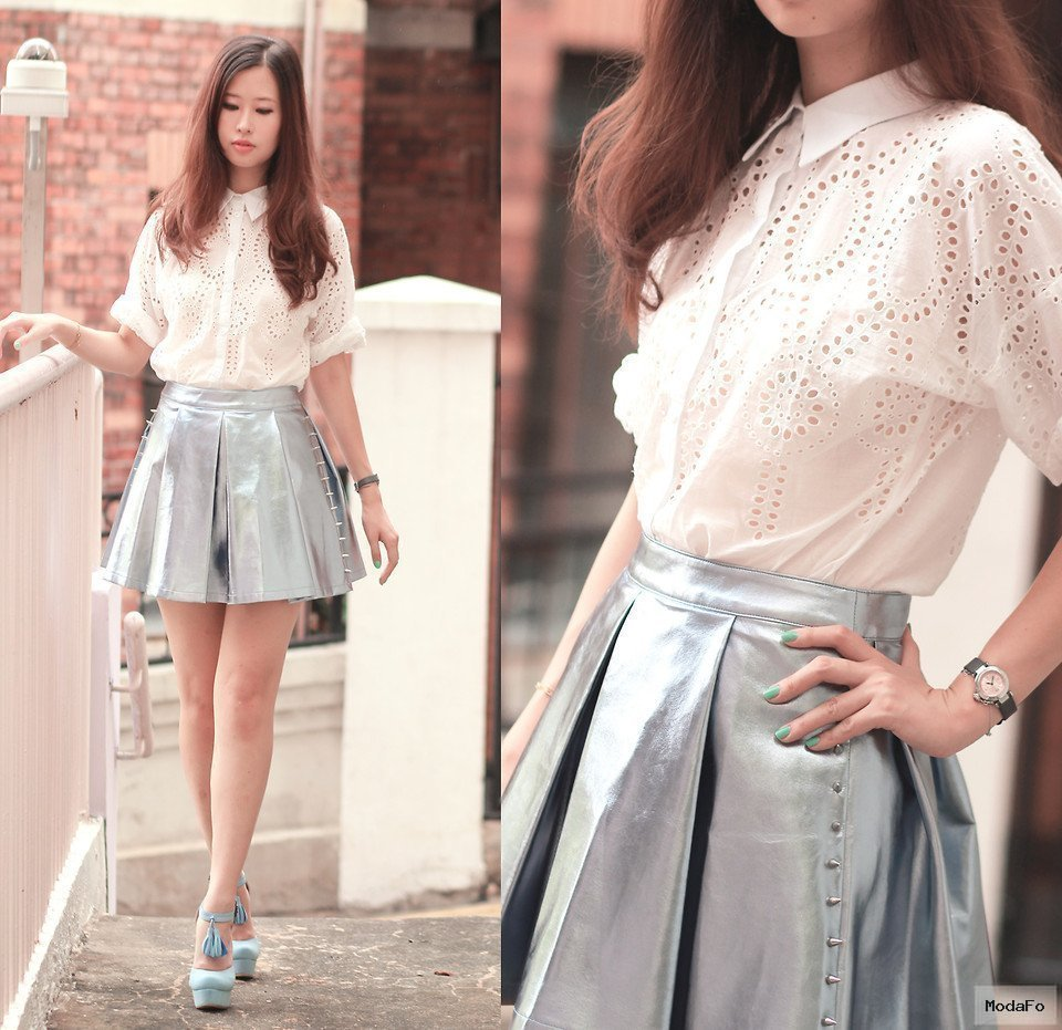 Fashionista NOW: Metallic Skirts For Valentine's Day 2014 Fashion …