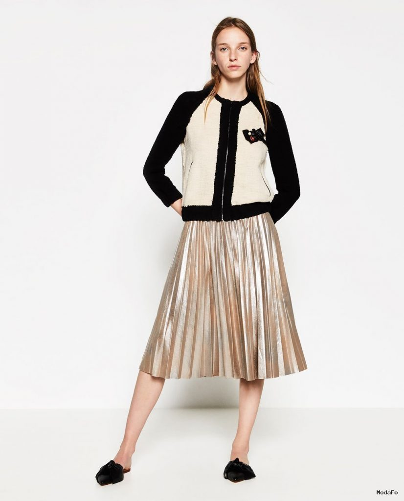 METALLIC FINE PLEATED SKIRT – SKIRTS-WOMAN | ZARA United States