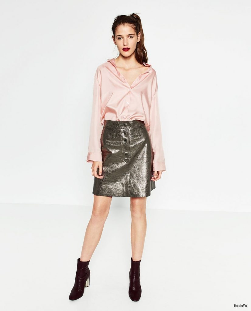 METALLIC LEATHER SKIRT – Mini-SKIRTS-WOMAN | ZARA United States