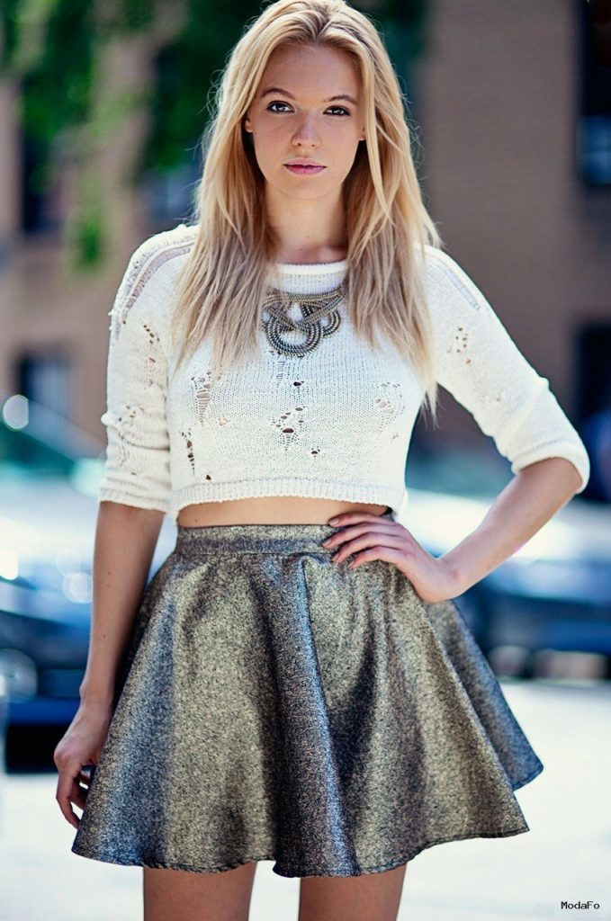 Metallic Skirt | Skater Skirts | Haute Rogue