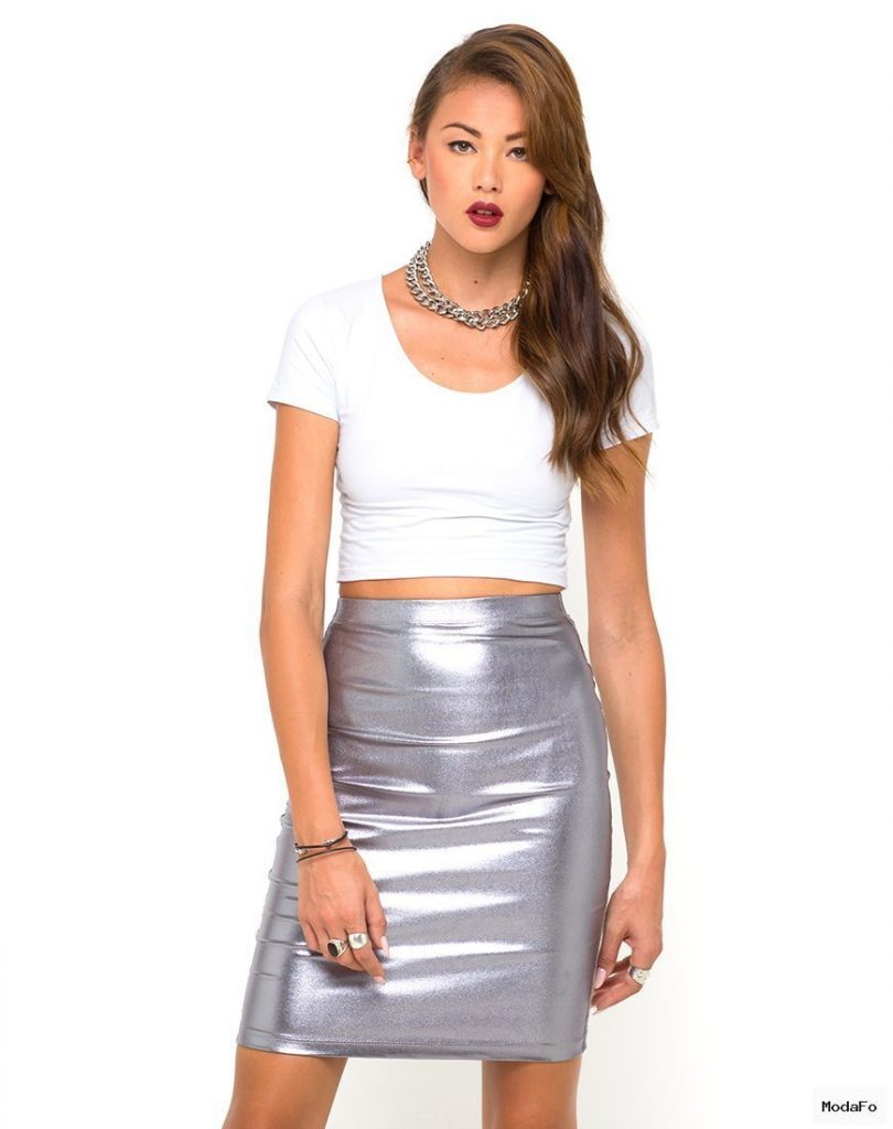 Metallic Skirt Unique | Everything Fashion